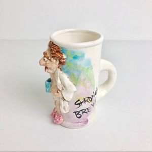 Coffee Addicts Strong Brew Novelty 3D Glazed Mug